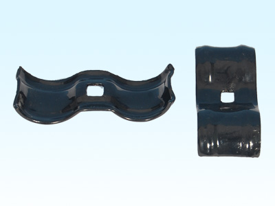 Black Powder Coated Kennel Clamp